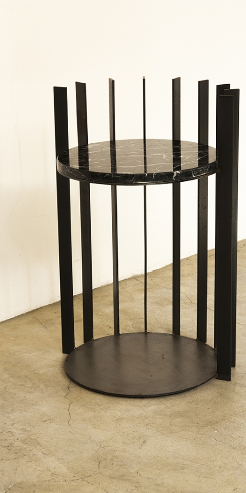 YANG BLACK MARBLE SIDE TABLE